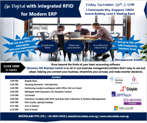 Go Digital with Dynamics 365 BC and RFID solutions on 20 Sep 2019 with Microlabs Crayon and AStar
